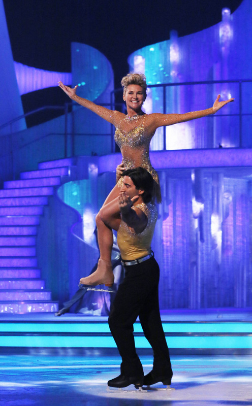 IN SPOTLIGHT: Anthea Turner rehearses a dance routine with partner Andy Buchanan