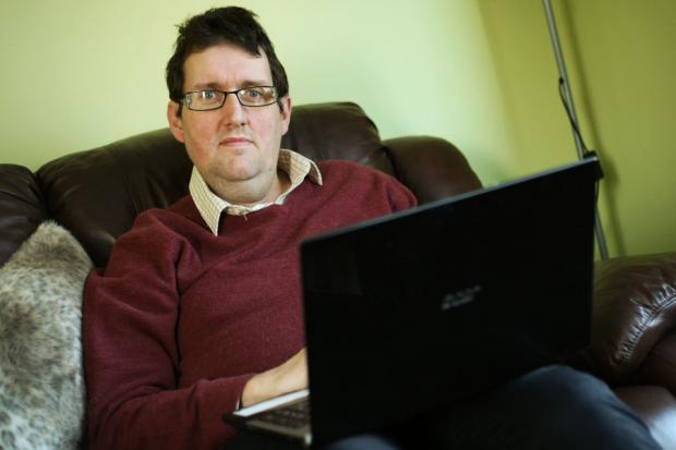 LOSING HOPE: Former Remploy worker Simon Huntington has spent five months looking for a job
