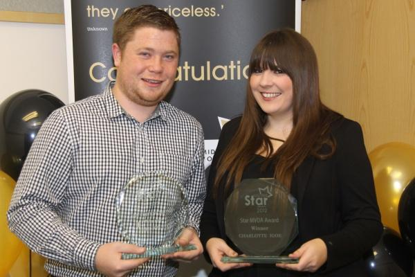 Volunteer award winners Charlotte Igoe and Jamie Walton
