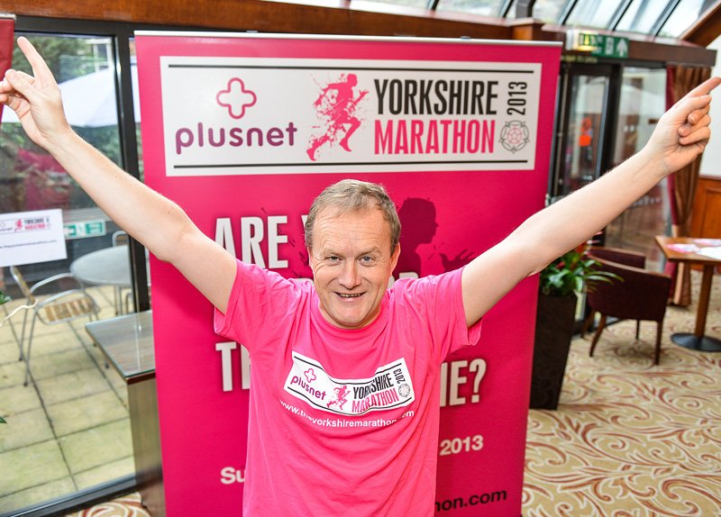 Mike Tomlinson, widower of late Yorkshire fundraiser and campaigner Jane Tomlinson, at the launch of the marathon