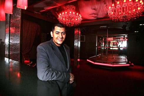 Owner Sonny Gill pictured inside his Red Velvet club