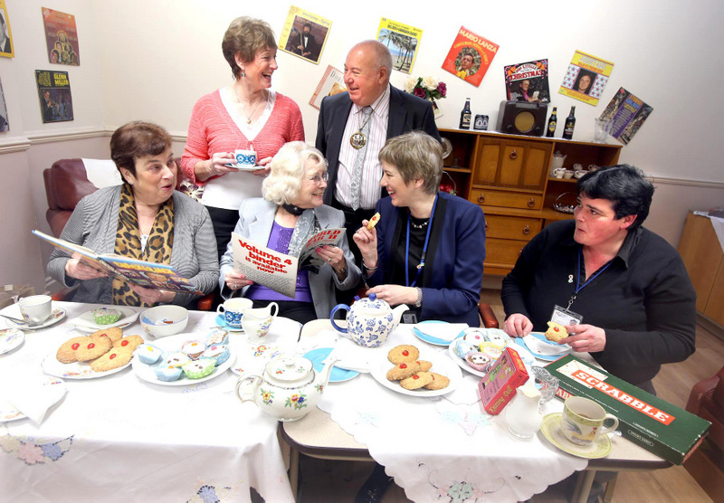HELPING HAND: From left, mayor Councillor Veronica Copeland, Val Twist, Ellie Buckley, deputy mayor Councillor Charles Johnson, Gillian Peel and Sue White at the cafe