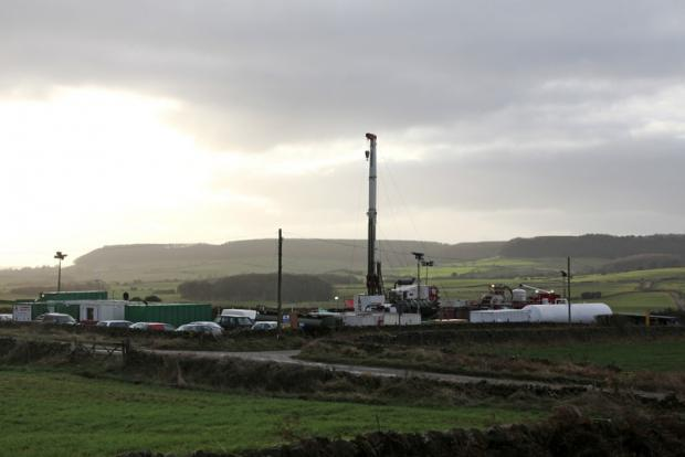 DIGGING DEEP: A York Potash rig on the North York Moors