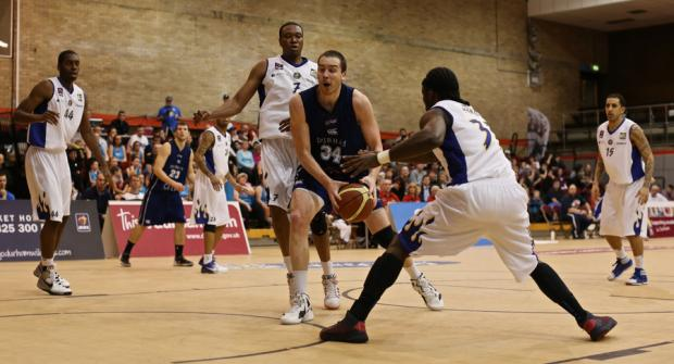 DREAMS ALIVE: Durham Wildcats Andrew Keister in action against Cheshire Phoenix