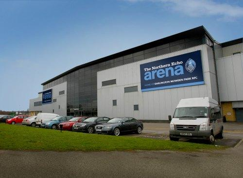 FRESH START: An artist's impression of how new signage will look at The Northern Echo Darlington Arena