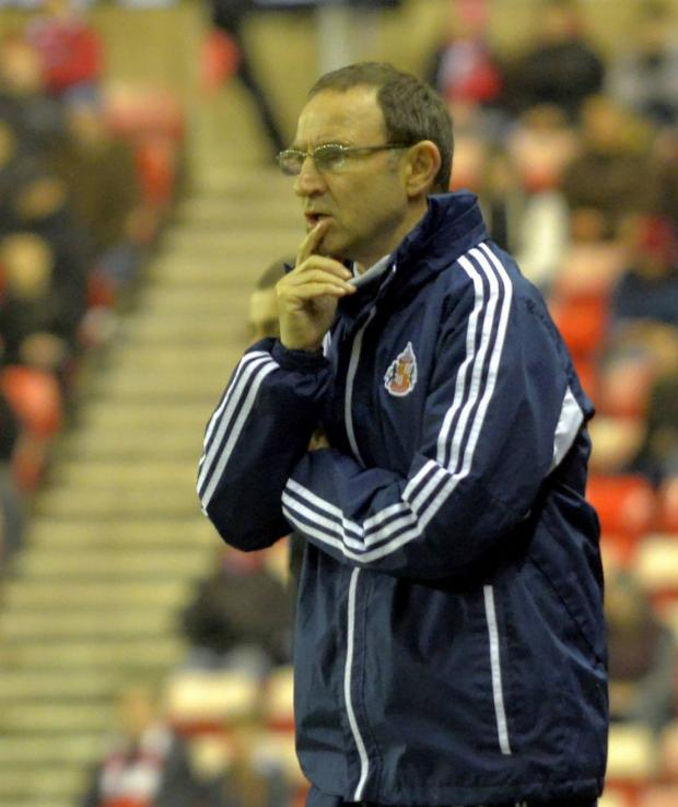 "The Northern Echo: Martin O'Neill, who said his side went out of the cup ""rather too meekly"""