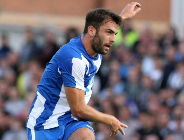 The Northern Echo: IN A DOGFIGHT: Hartlepool United midfielder Simon Walton