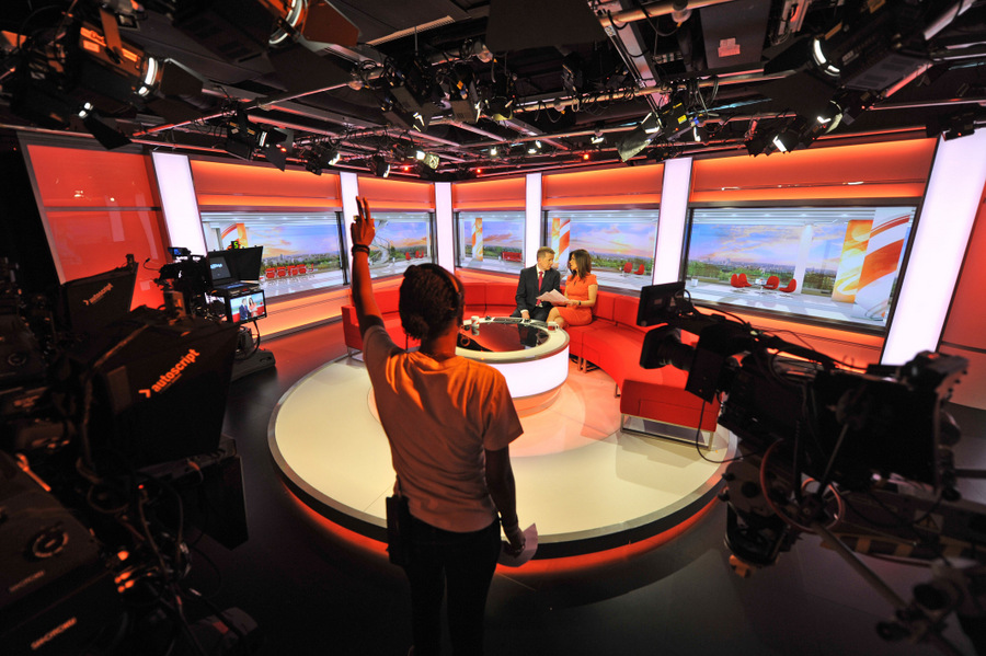 The national BBC Breakfast set