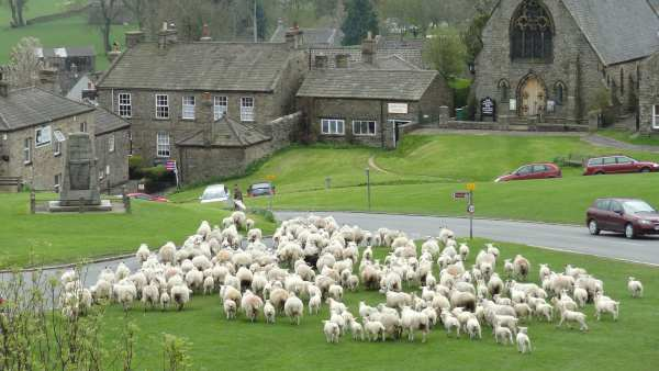 The Tour will pass through the village of Reeth