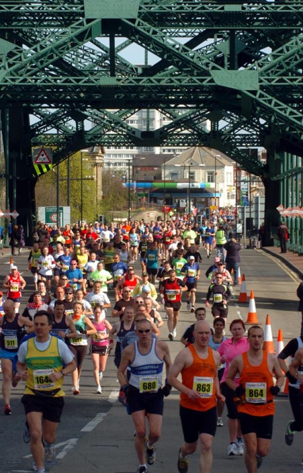 Runners taking part in Marathon of North last year