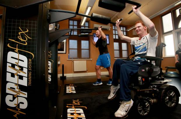 Stephen Miller and Alan Shearer train together using the Speedflex system