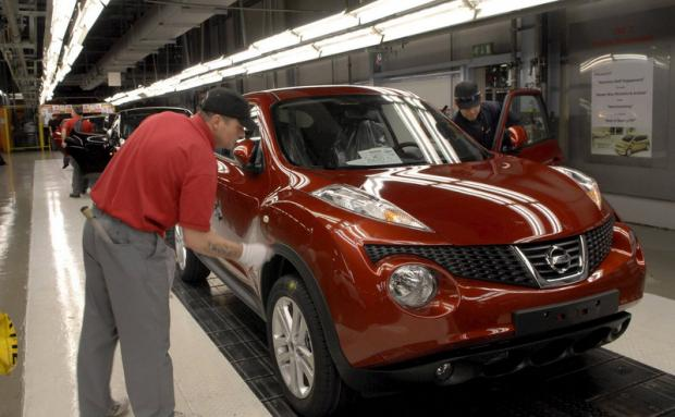 HOMEGROWN: Nissan's Sunderland plant produced a third of all cars made in the UK last year