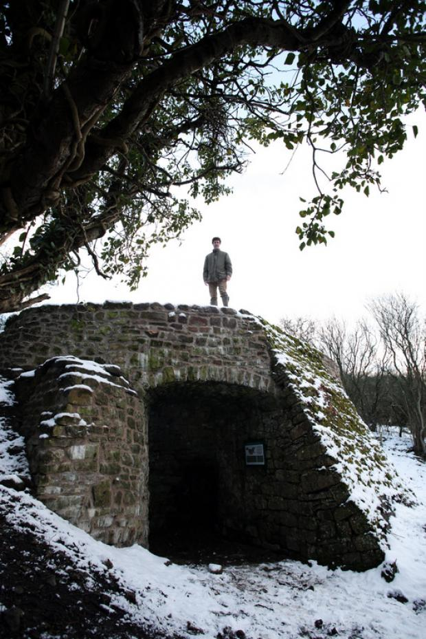 HERITAGE: Ed Milbank, of the Barningham Estate, at the restored lime kiln