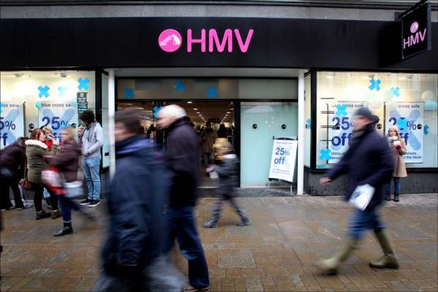 HMV branches in Durham, Stockton, South Shields and Teesside Park are being axed