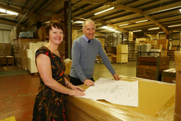 MADE IN BRITAIN: Pamela Petty, left, Ebac managing director, with project design engineer Jeff Palin