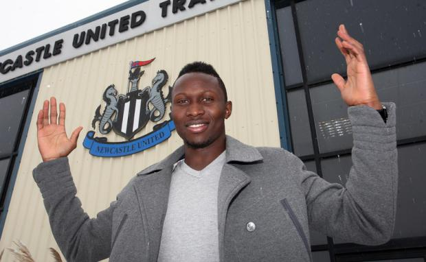 FRENCH CONNECTION: Mapou Yanga-Mbiwa signed for Newcastle United yesterday, with two more French players due on Tyneside today