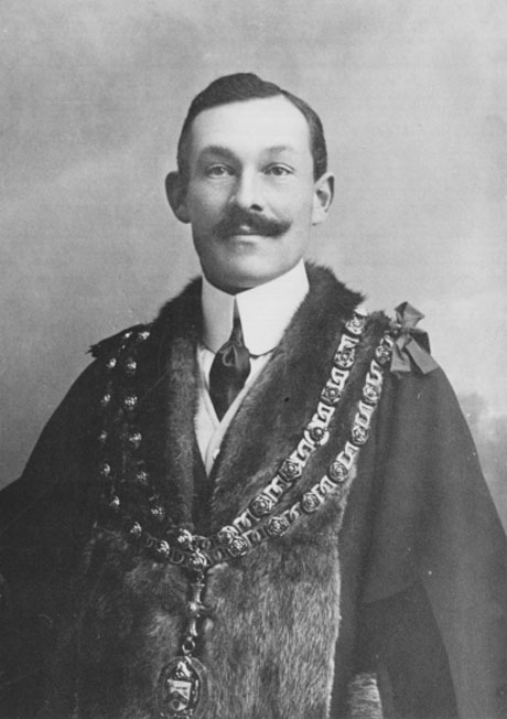 IN CHAINS: William Edwin Pease (1865-1926), of Mowden, as Darlington mayor in 1902