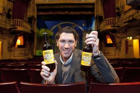 Jo Theakston, Marketing Director at the Black Sheep Brewery, at the Playhouse Theatre