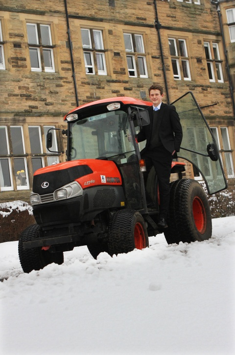 DETERMINED PUPIL: Will Richardson who drove a tractor to school