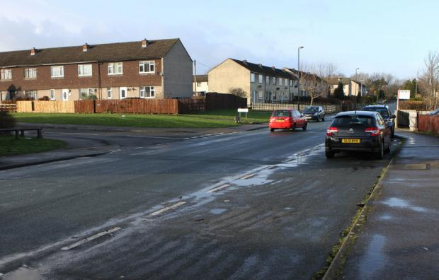 ACCIDENT SCENE: The layby in Forest Drive, Colburn, where the injured Rosina Seabright  was found