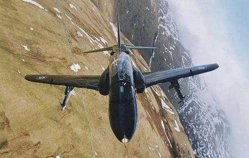 The RAF Hawk jet can reach speeds up to 633mph