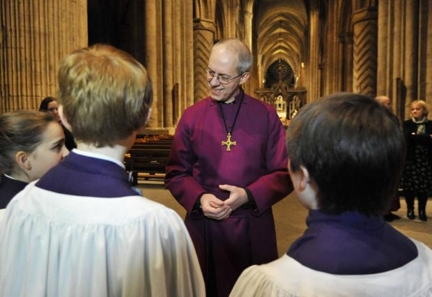 The Northern Echo: BISHOP'S FAREWELL: Hundreds gathered at Durham Cathedral last night to say farewell to the bishop, the Right Reverend Justin Welby