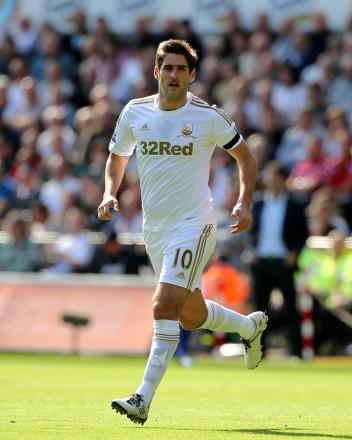 WEARSIDE BOUND? Centre-forward Danny Graham is keen to leave Swansea, but could yet face Sunderland tonight at the Stadium of Light for his current club