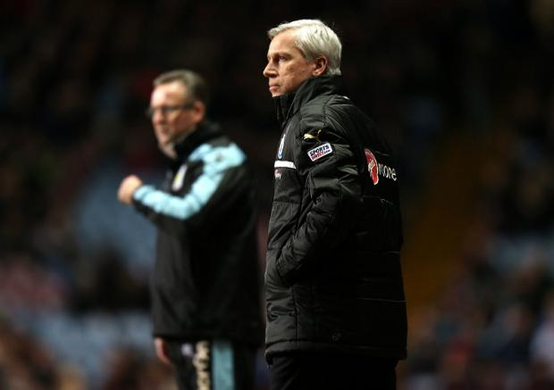 Distraction: Aston Villa boss Paul Lambert, pictured with Newcastle's Alan Pardew, could do without the FA Cup