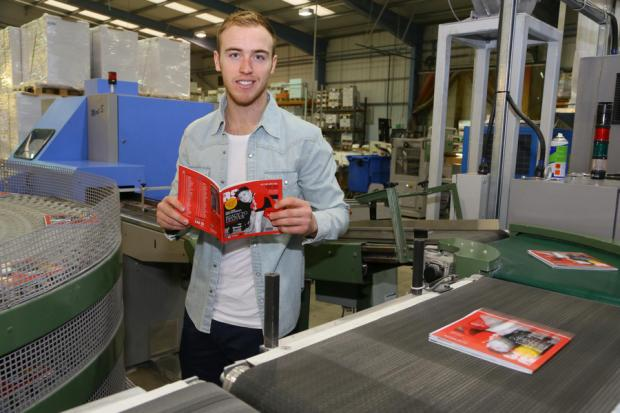FOOTBALL FACTORY: Jason Steele visits HPM Group in Newton Aycliffe to see the Middlesbrough programme being produced