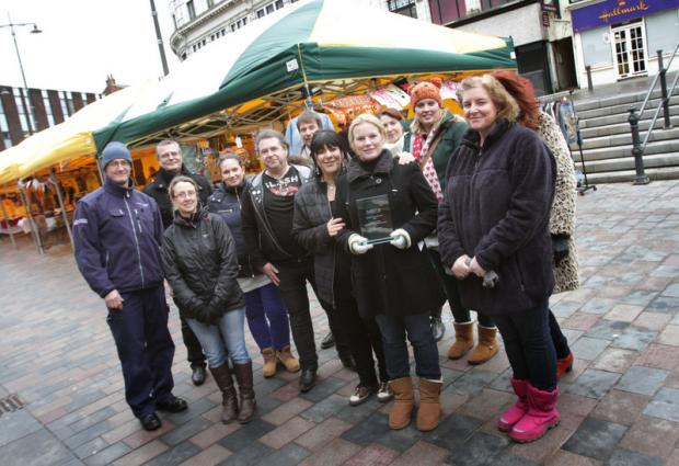SETTING OUT THEIR STALL: Stallholders and organisers of Darlington's Sunday People's Market – Britain's favourite market
