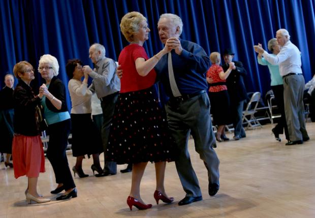 FEELING THE 1950S BEAT: Visitors enjoy the 1950s tea dance in Bishop Auckland