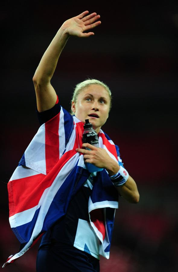 The Northern Echo: BEATING BRAZIL: Steph Houghton, in her Team GB kit, afte victory over Brazil last summer