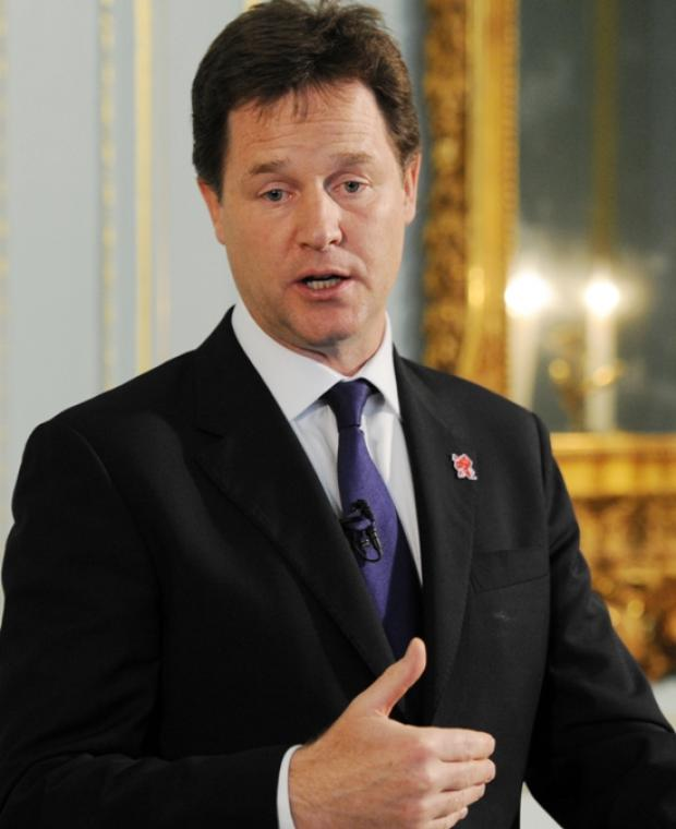 "Deputy Prime Minister Nick Clegg said the proposed City Deals would ""free regions from the Whitehall leash"""