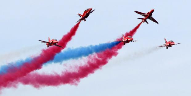 The Red Arrows put on a show at the Sunderland International Airshow last year