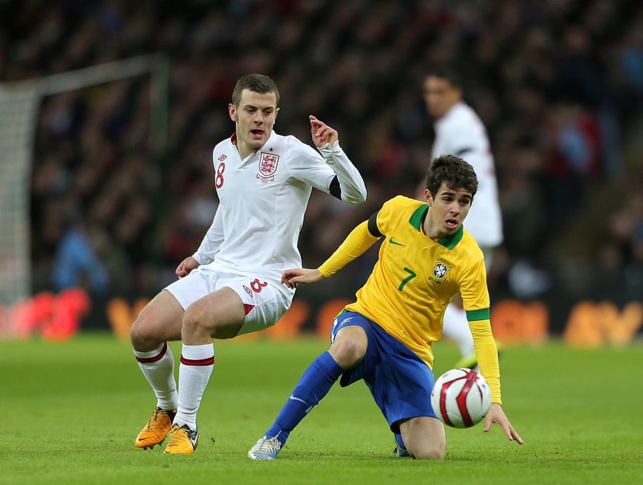 THE FUTURE'S BRIGHT: Arsenal midfielder Jack Wilshere impressed in England's 2-1 win over Brazil at Wembley