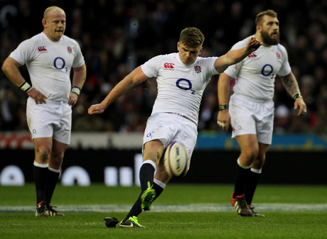 THE NEXT BIG THING?: England's Owen Farrell in action against Scotland last weekend