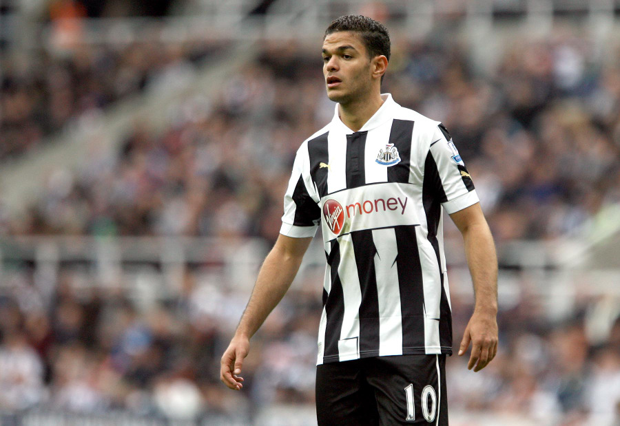 FUTURE IN DOUBT: Hatem Ben Arfa could be heading through the St James' Park exit door this summer