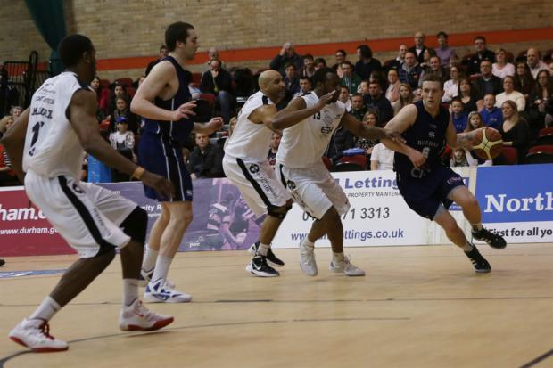 DOUBLE DEFEAT: Keith Page in action for Durham Wildcats against Newcastle Eagles