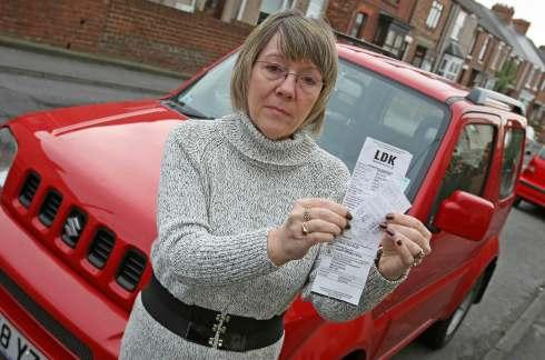 Mandy Egglestone, from Coxhoe, who was hit with a parking fine, despite buying a ticket.