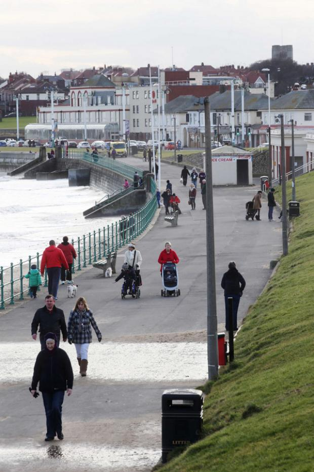 DOWN BY THE SEA: The seafront at Seaburn, near Sunderland