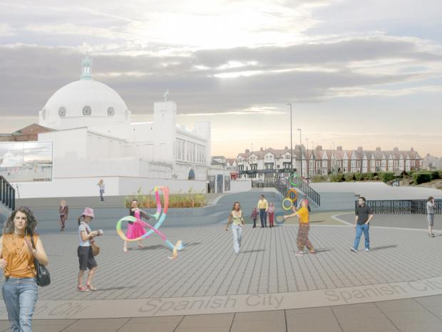 The Northern Echo: VISION FOR FUTURE: An artist's drawing of how Whitley Bay could look