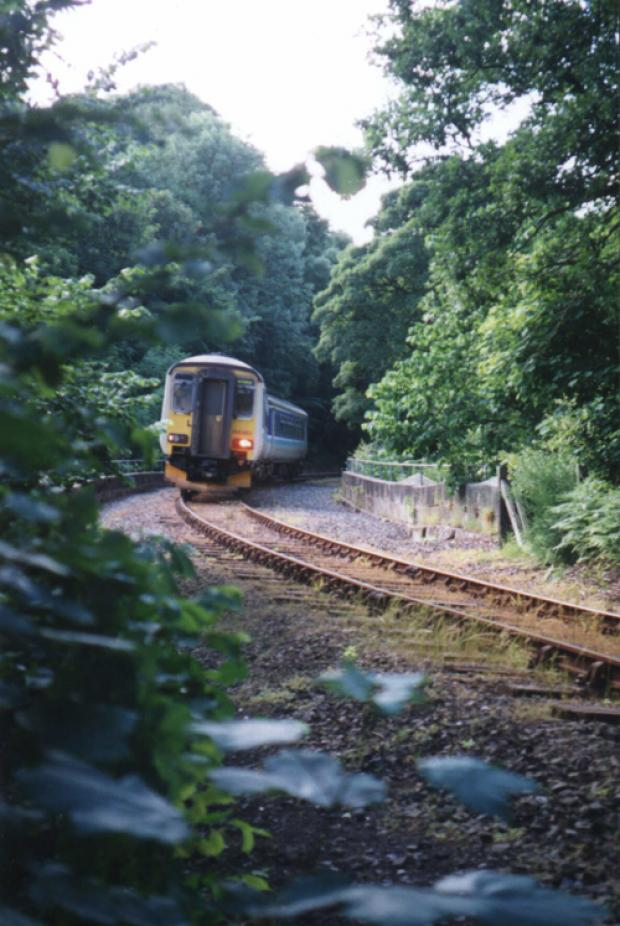 The Northern Echo: ON TRACK: A train on the Esk Valley line between Whitby and Middlesbrough