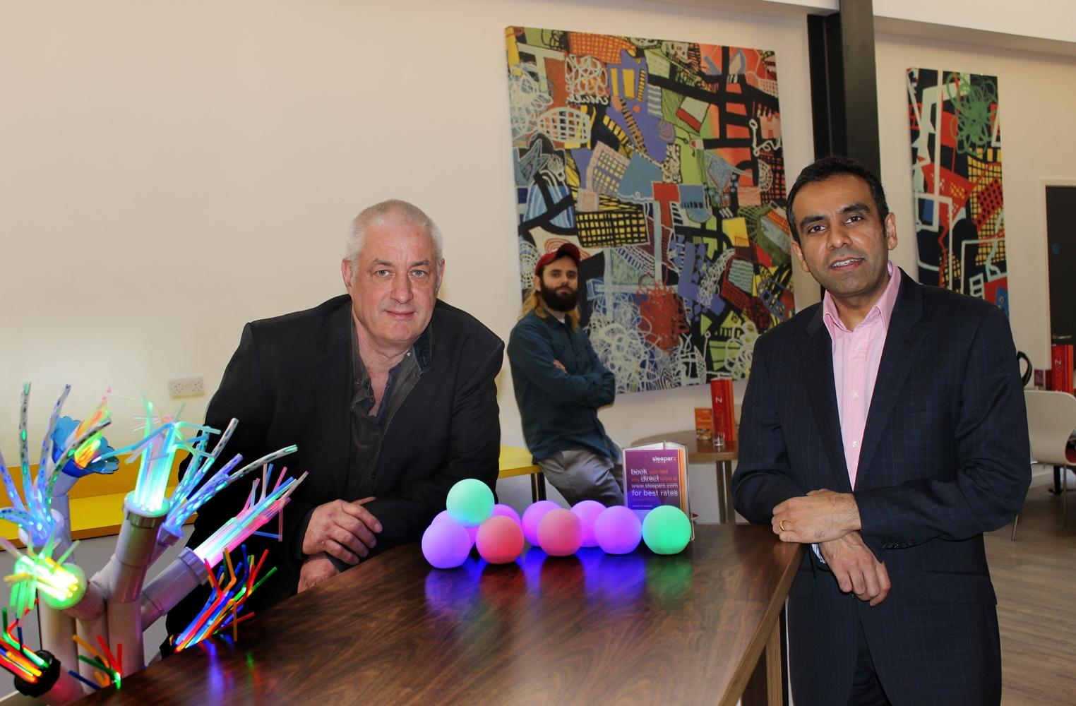 Artist Mick Stephenson, Empty Shop's Carlo Viglianisi and Sleeperz Hotel's Javeed Anwar