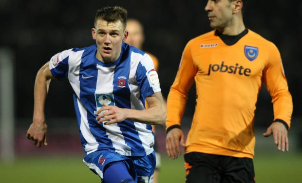 The Northern Echo: GOAL HUNT: With Portsmouth's Ricardo Rocha close by, Hartlepool United striker