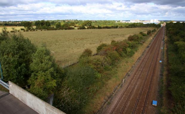 WAITING FOR THE TRAINS: The Amazon Park site in Newton Aycliffe, where the Hitachi factory will be built