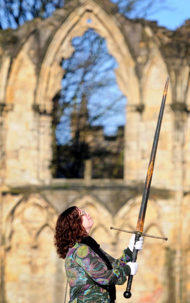 The Northern Echo: ON SHOW: Natalie McCaul with a 16th Century sword, that features in the exhibition