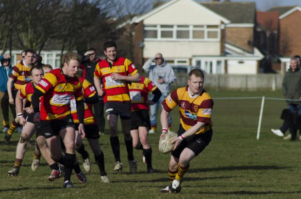 Players from Seaton Carew and Barnard Castle in the line-out during Saturday's 29-17 win for the home side at Hornby Park