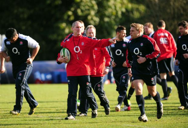 NO EASING UP: Stuart Lancaster is guarded ahead of Saturday's game with France