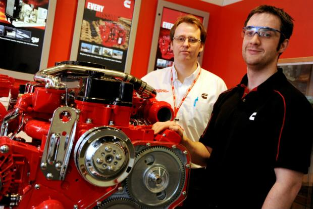 Manufacturing Engineering manager, Steve Morley, with Tees University graduate, Barry Moore.