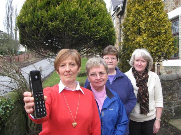 The Northern Echo: Frustrated residents Jan Martin, Eileen Murray, Jean Hardy and Denise Proud